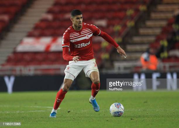 Ashley Fletcher of Middlesbrough during the Sky Bet Championship match between Middlesbrough and Birmingham City at the Riverside Stadium,...