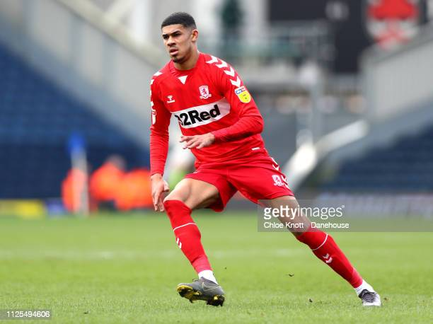 Ashley Fletcher of Middlesbrough FC during the Sky Bet Championship match between Blackburn Rovers and Middlesbrough FC at Ewood Park on February 17...