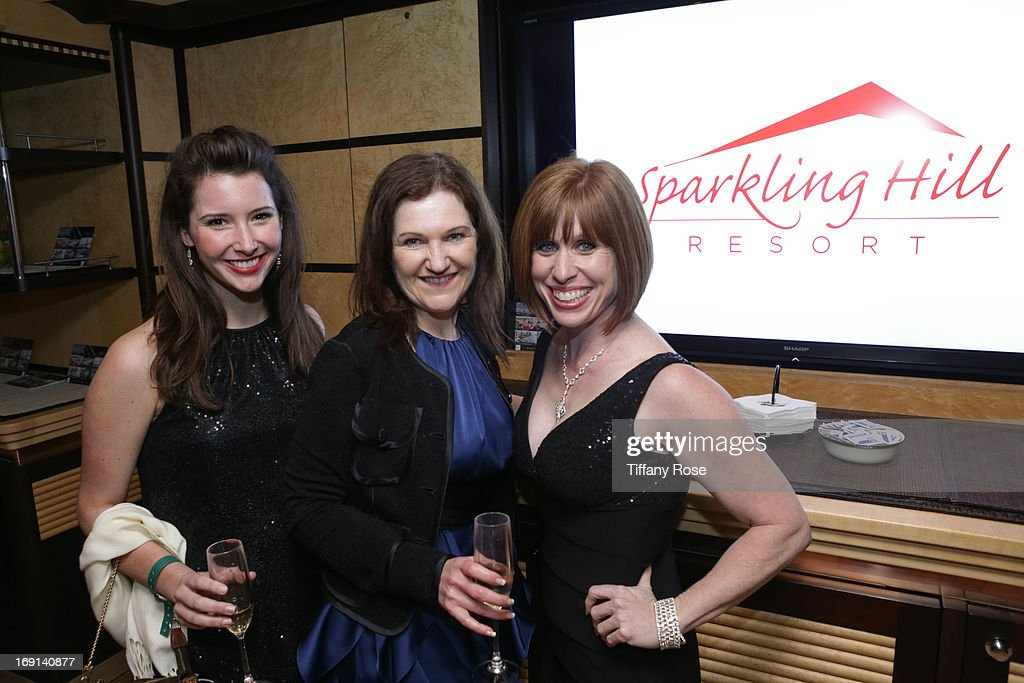 Ashley Foerster, Wendy Patriquin of Sparkling Hill Resort and Kristan Willingham attend My Yacht Party sponsored by Sparkling Hill Resort on May 19, 2013 in Cannes, France.
