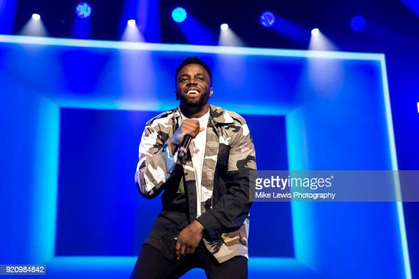 Ashley Fongho of RakSu performs on the X Factor Live tour on February 19 2018 in Cardiff United Kingdom