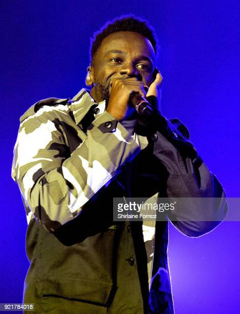 Ashley Fongo of RakSu performs during The X Factor Live at Manchester Arena on February 20 2018 in Manchester United Kingdom