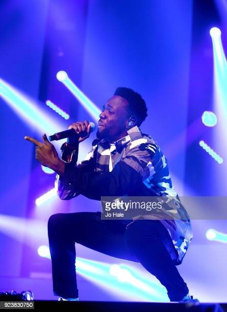 Ashley Fongo of RakSu performs on stage at X Factor Live Tour at SSE Arena on February 24 2018 in London England