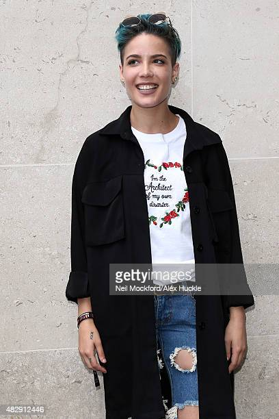 Ashley Frangipane aka Halsey seen at BBC Radio One on August 4 2015 in London England