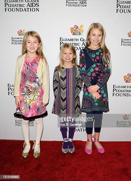 Ashley Gerasimovich Erin Gerasimovich and Alexa Gerasimovich attend the 2011 Elizabeth Glaser Pediatric AIDS Foundation Kids For Kids Family Carnival...