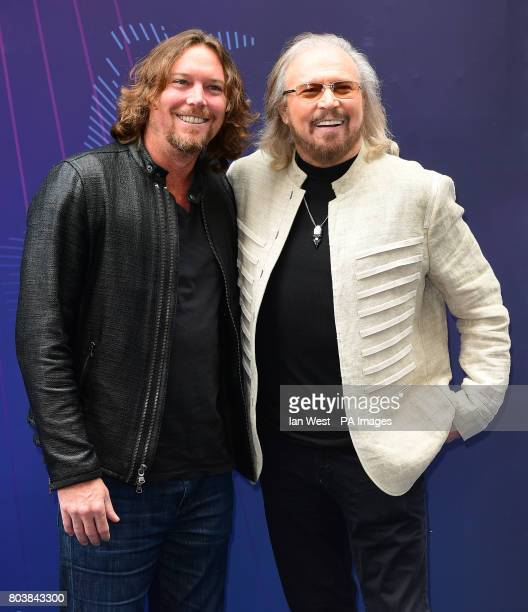 Ashley Gibb and Barry Gibb attending the O2 Silver Clef Awards 2017 with the support of Nordoff Robbins held at the Grosvenor House Hotel London