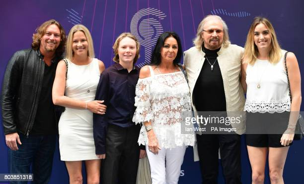 Ashley Gibb Therese Gibb Lucas Gibb Linda Gibb Barry Gibb and Alexandra Gibb attending the O2 Silver Clef Awards 2017 with the support of Nordoff...