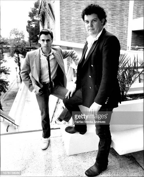 Ashley Gordon and John Frost new owners of the Footbridge Theatre Sydney University April 20 1984