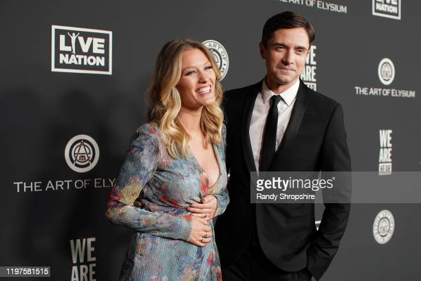 Ashley Grace and Topher Grace attend The Art Of Elysium's 13th Annual Celebration - Heaven at Hollywood Palladium on January 04, 2020 in Los Angeles,...