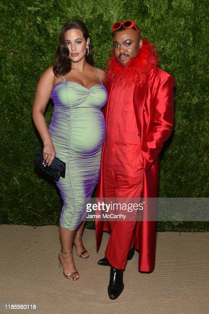 Ashley Graham and Christopher John Rogers attend the CFDA / Vogue Fashion Fund 2019 Awards at Cipriani South Street on November 04 2019 in New York...