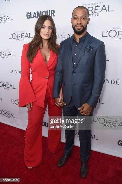 Ashley Graham and Justin Ervin attend Glamour's 2017 Women of The Year Awards at Kings Theatre on November 13 2017 in Brooklyn New York