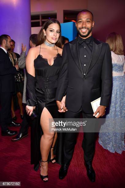 Ashley Graham and Justin Ervin attend the 2017 TIME 100 Gala at Jazz at Lincoln Center on April 25 2017 in New York City