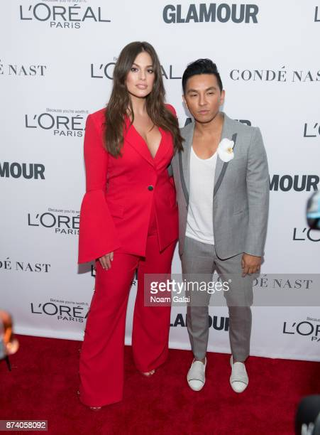 Ashley Graham and Prabal Gurung attend the 2017 Glamour Women of The Year Awards at Kings Theatre on November 13 2017 in New York City