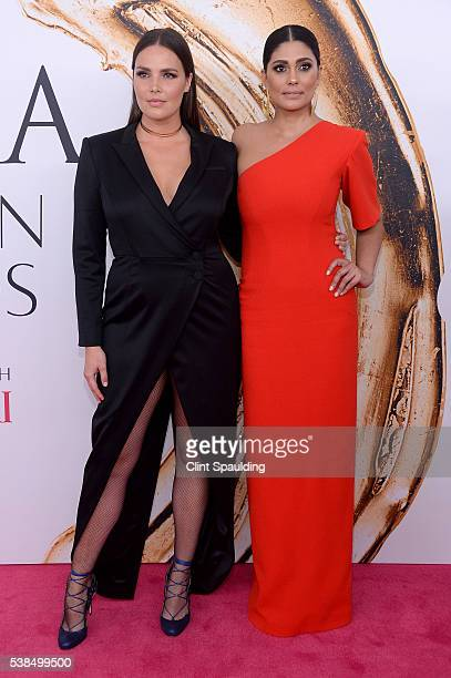 Ashley Graham and Rachel Roy attend the 2016 CFDA Fashion Awards at the Hammerstein Ballroom on June 6 2016 in New York City