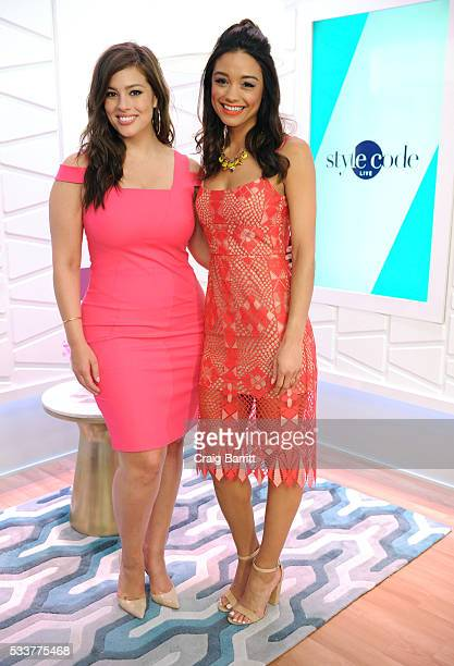 Ashley Graham and Rachel Smith film an episode of Amazon's Style Code Live airing Wednesday at 9pm ETon May 23 2016 in New York City