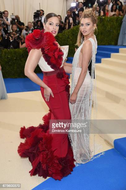 Ashley Graham and Stella Maxwell attend the 'Rei Kawakubo/Comme des Garcons Art Of The InBetween' Costume Institute Gala at Metropolitan Museum of...