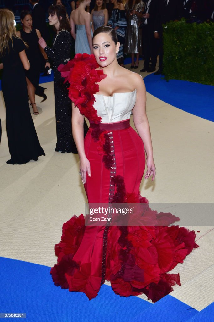 Ashley Graham arrives at 'Rei Kawakubo/Comme des Garcons: Art Of The In-Between' Costume Institute Gala at The Metropolitan Museum on May 1, 2017 in New York City.