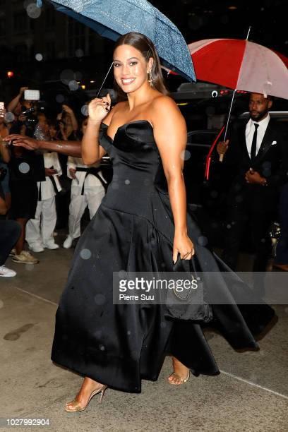 Ashley Graham arrives at the 6th annual fashion media awards at the Park Hyatt hotel on September 6 2018 in New York City