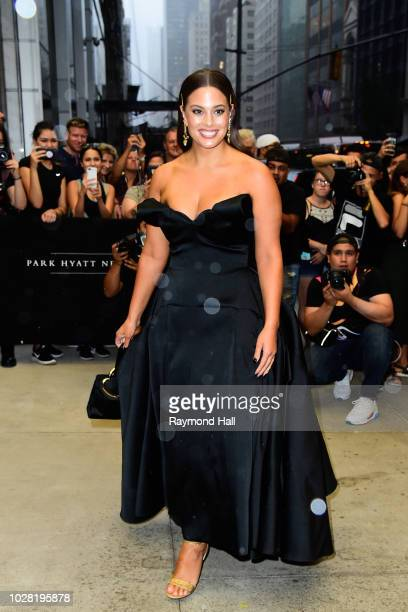 Ashley Graham arrives at the 6th annual fashion media awards at the Park Hyatt hote on September 6 2018 in New York City