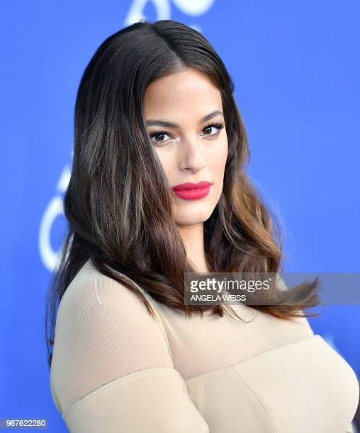 Ashley Graham arrives for the 2018 CFDA Fashion awards June 4 2018 at The Brooklyn Museum in New York