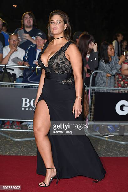 Ashley Graham arrives for the GQ Men Of The Year Awards 2016 at Tate Modern on September 6 2016 in London England