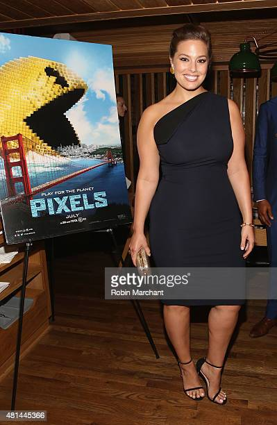 Ashley Graham attends a Dinner Honoring The Women Of 'Pixels' at Upland on July 20 2015 in New York City