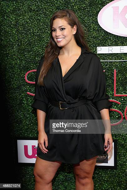 Ashley Graham attends as Addition Elle presents Fall/Holiday 2015 RTW and Ashley Graham Lingerie Collection At KIA STYLE360 on September 15 2015 in...