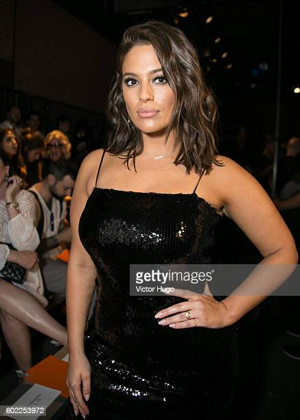 Ashley Graham attends Christian Siriano Front Row September 2016 New York Fashion Week The Shows at ArtBeam on September 10 2016 in New York City