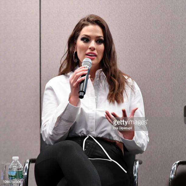 Ashley Graham attends Cocktails and a Conversation with the Stars of Lifetime's 'American Beauty Star' featuring host and executive producer Ashley...