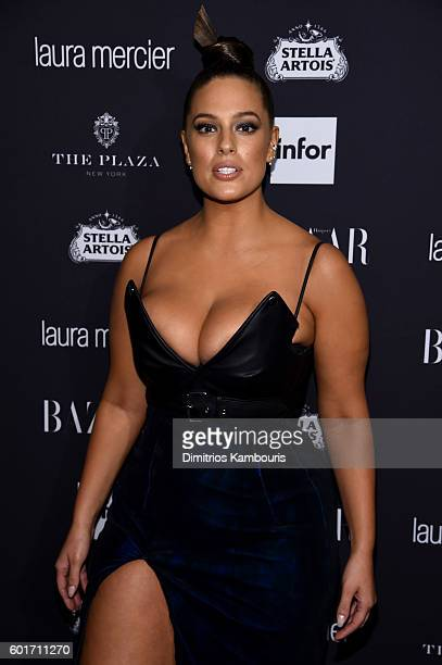 Ashley Graham attends Harper's Bazaar's celebration of ICONS By Carine Roitfeld presented by Infor Laura Mercier and Stella Artois at The Plaza Hotel...