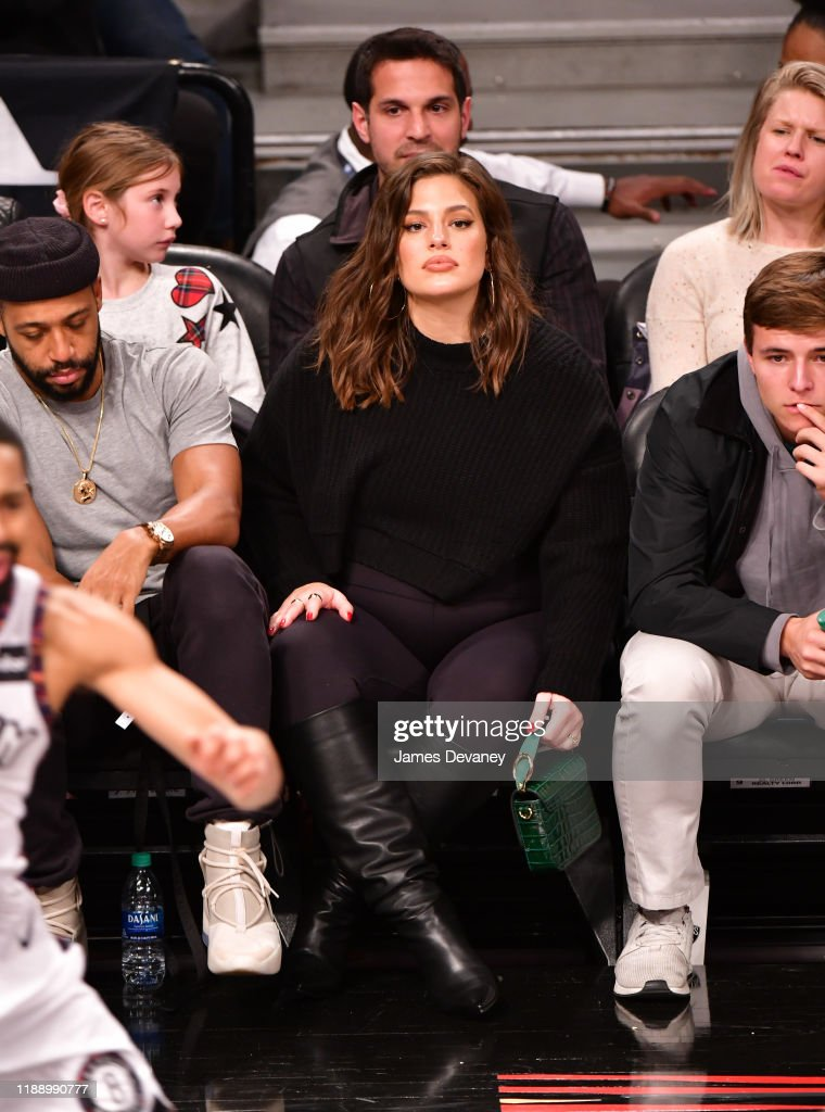 Celebrities Attend Philadelphia 76ers v Brooklyn Nets Game : News Photo