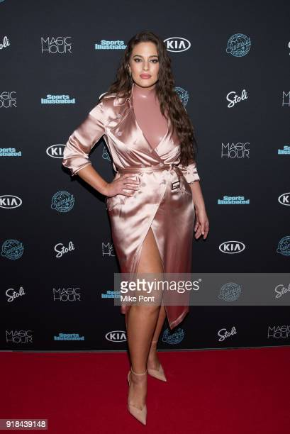 Ashley Graham attends the 2018 Sports Illustrated Swimsuit Issue Launch Celebration at Magic Hour at Moxy Times Square on February 14 2018 in New...