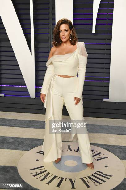 Ashley Graham attends the 2019 Vanity Fair Oscar Party hosted by Radhika Jones at Wallis Annenberg Center for the Performing Arts on February 24,...