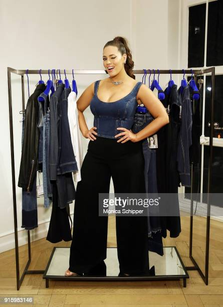 bac08d6d130 Ashley Graham attends the Ashley Graham x Marina Rinaldi SS18 Denim Capsule  Collection Launch on February