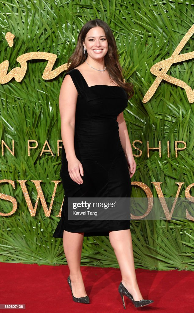 Ashley Graham attends The Fashion Awards 2017 in partnership with Swarovski at Royal Albert Hall on December 4, 2017 in London, England.