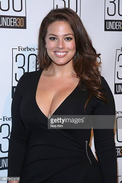 Ashley Graham attends the Forbes 30 Under 30 Cocktail Reception at Forbes Building on January 28 2016 in New York City