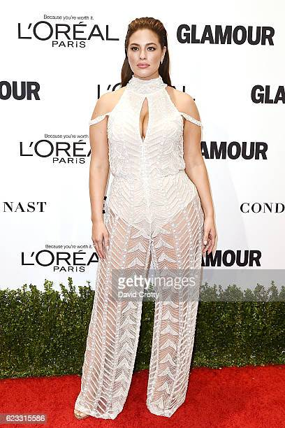 Ashley Graham attends the Glamour Celebrates 2016 Women Of The Year Awards Arrivals at NeueHouse Hollywood on November 14 2016 in Los Angeles...