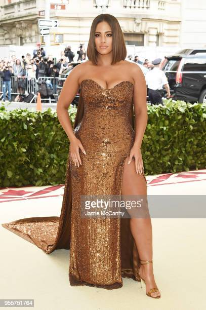 Ashley Graham attends the Heavenly Bodies Fashion The Catholic Imagination Costume Institute Gala at The Metropolitan Museum of Art on May 7 2018 in...
