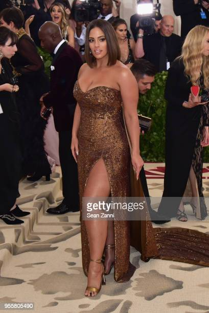 Ashley Graham attends the Heavenly Bodies: Fashion & The Catholic Imagination Costume Institute Gala at The Metropolitan Museum of Art on May 7, 2018...