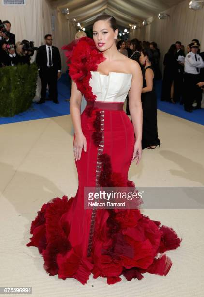 Ashley Graham attends the 'Rei Kawakubo/Comme des Garcons Art Of The InBetween' Costume Institute Gala at Metropolitan Museum of Art on May 1 2017 in...