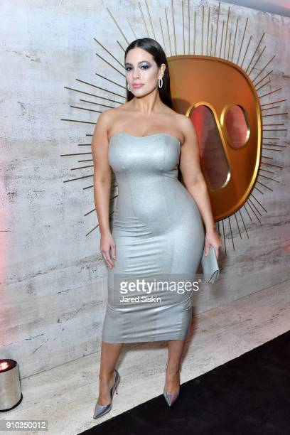 Ashley Graham attends the Warner Music Group PreGrammy Party in association with V Magazine on January 25 2018 in New York City