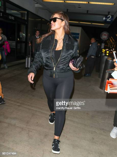 Ashley Graham is seen at Los Angeles International Airport on March 12 2018 in Los Angeles California