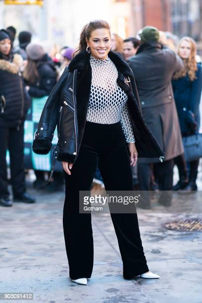 Ashley Graham is seen in NoHo on January 9 2018 in New York City
