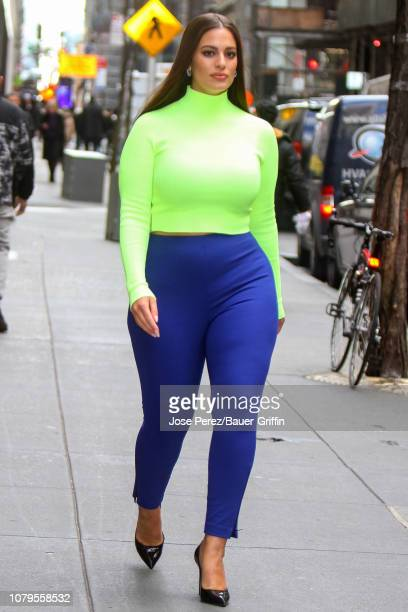 Ashley Graham is seen on January 09 2019 in New York City