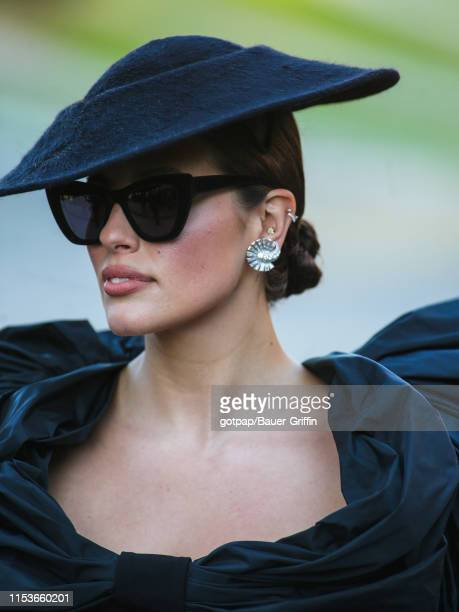 Ashley Graham is seen outside of the 2019 CFDA fashion awards at the Brooklyn Museum on June 3, 2019 in the Brooklyn borough of New York City.