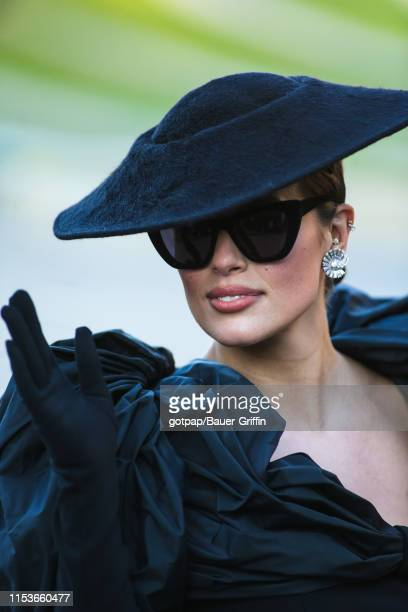 Ashley Graham is seen outside of the 2019 CFDA fashion awards at the Brooklyn Museum on June 3 2019 in the Brooklyn borough of New York City