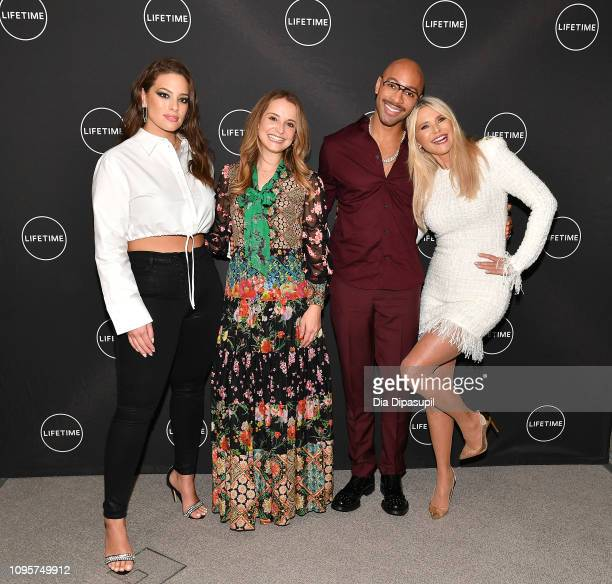 Ashley Graham Leah Wyar Sir John and Christie Brinkley attend Cocktails and a Conversation with the Stars of Lifetime's 'American Beauty Star'...