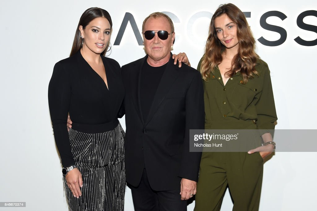 Ashley Graham, Michael Kors, and Andreea Diaconu attend Michael Kors and Google Celebrate new MICHAEL KORS ACCESS Smartwatches at ArtBeam on September 13, 2017 in New York City.