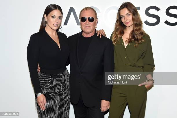 Ashley Graham Michael Kors and Andreea Diaconu attend Michael Kors and Google Celebrate new MICHAEL KORS ACCESS Smartwatches at ArtBeam on September...