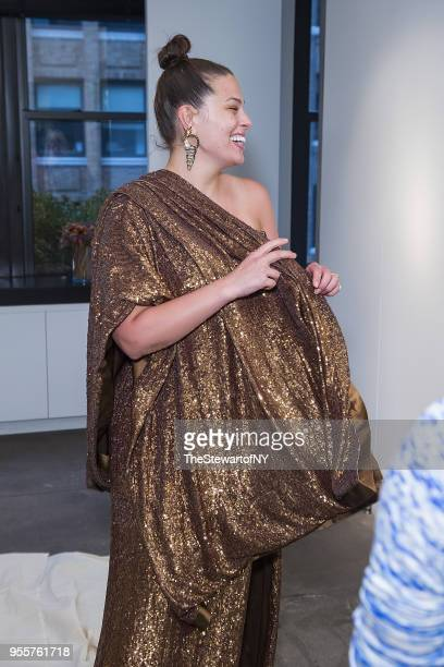 Ashley Graham seen during fittings for her dress by Prabal Gurung on April 30 2018 in New York City