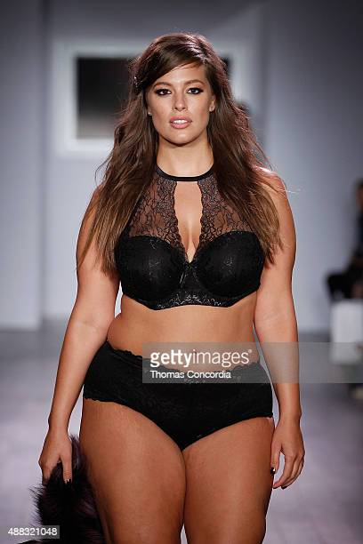 Ashley Graham walks the runway as Addition Elle presents Fall/Holiday 2015 RTW and Ashley Graham Lingerie Collection At KIA STYLE360 on September 15...